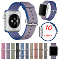 2016 novo estilo de tecido de nylon tecido banda smart watch pulseira pulseiras de relógio de substituição para iwatch relógio do esporte strap para apple watch