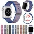 2016 nuevo estilo de nylon tejido de tela banda smart watch pulsera reemplazo para correas de reloj iwatch reloj deportivo correa para apple watch