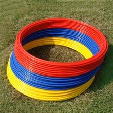 6Pcs/ Set 40cm Soccer Speed Agility Rings ABS Material Sensitive Football Training Equipment Pace Lap Football Ball Training
