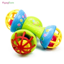 Купить с кэшбэком FlyingTown New born baby toys Rattles Baby Toys 0-12 Months rattles suit baby baby puzzle early soft rubber hand bell