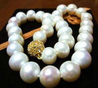 0001854 Exquisite 11 12MM WHITE AKOYA PEARL NECKLACE AAA 17 5