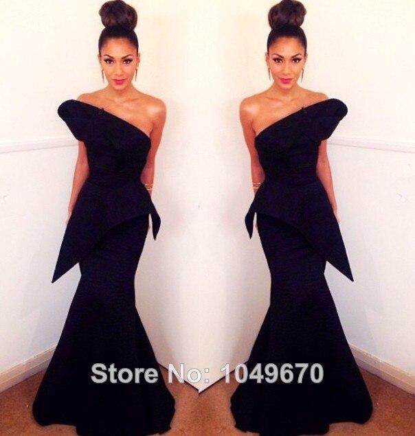 Elegant New 2014 Red Carpet Mermaid Celebrity Dresses Taffeta ...