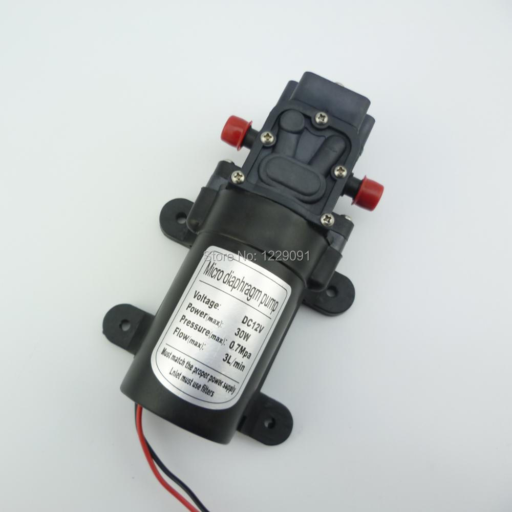 Return valve type 12v 30W 3L/min high pressure diaphragm dc micro water pump agriculture battery sprayer pump 12v dc water pump