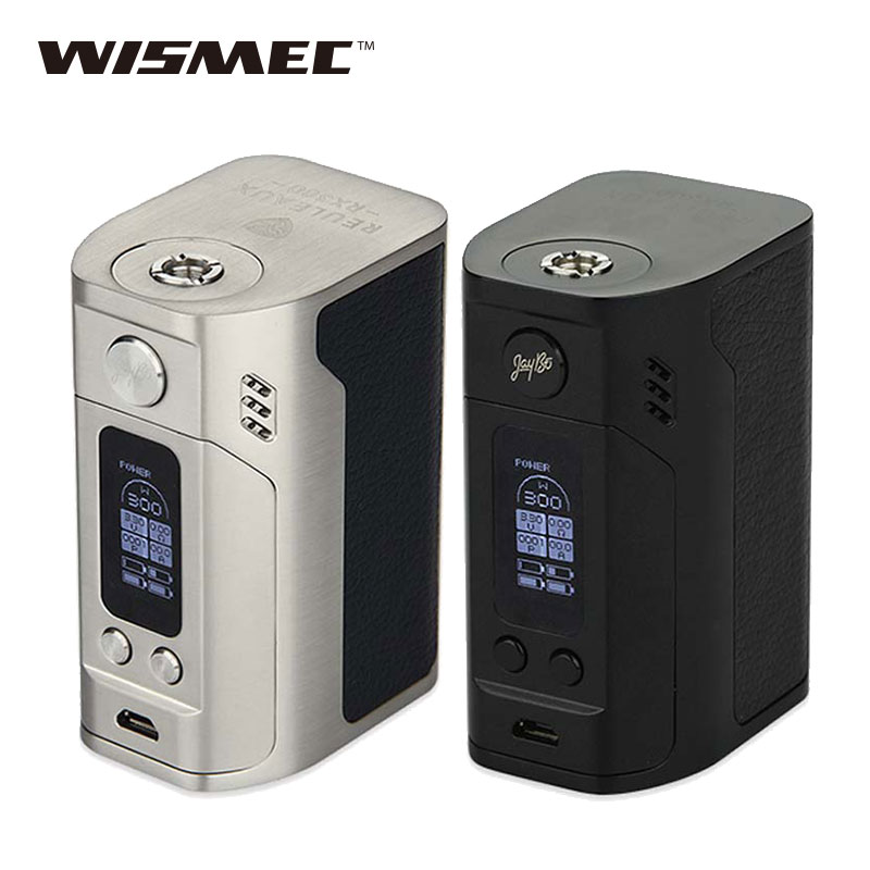 Original WISMEC Reuleaux RX300 TC Mod 300W wismec rx300 Box Mod VW/TC Modes Electronic Cigarette Mod vs RX2/3 Mod voopoo drag 157w tc box mod