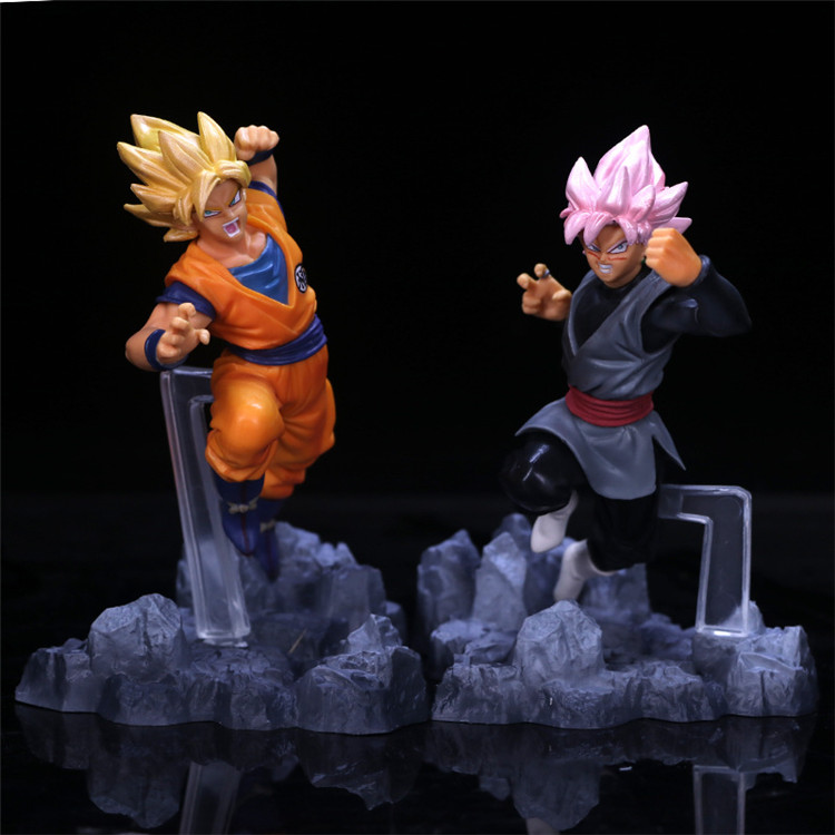 New anime dragon ball action figure Zamasu Goku Black Son Goku pvc action figure doll collection gift model toys juguetes new hot 21cm dragon ball super saiyan 3 son goku kakarotto action figure toys doll collection christmas gift with box sy889
