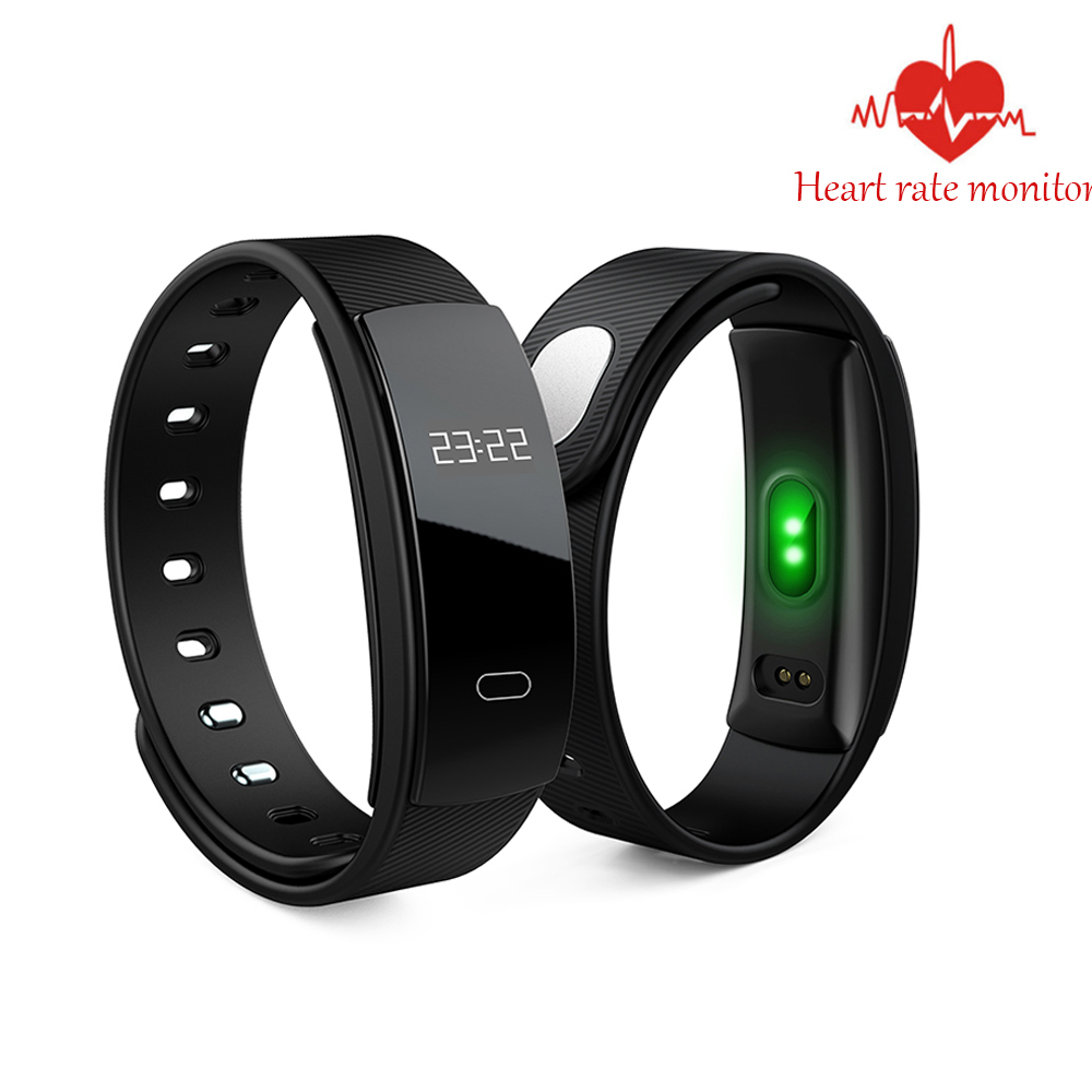 QS80 Smart Band Heart Rate Monitor Blood Pressure Monitor Smart Wristband Fitness Tracker Smart Bracelet for IOS Android jakcom smart band s18 heart rate blood pressure monitor smart wristband fitness tracker bracelet for android ios s18 smartwatch