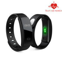 QS80 SmartBand Heart Rate Monitor Blood Pressure Monitor Smart Wristband Fitness Tracker Smart Bracelet for IOS Android