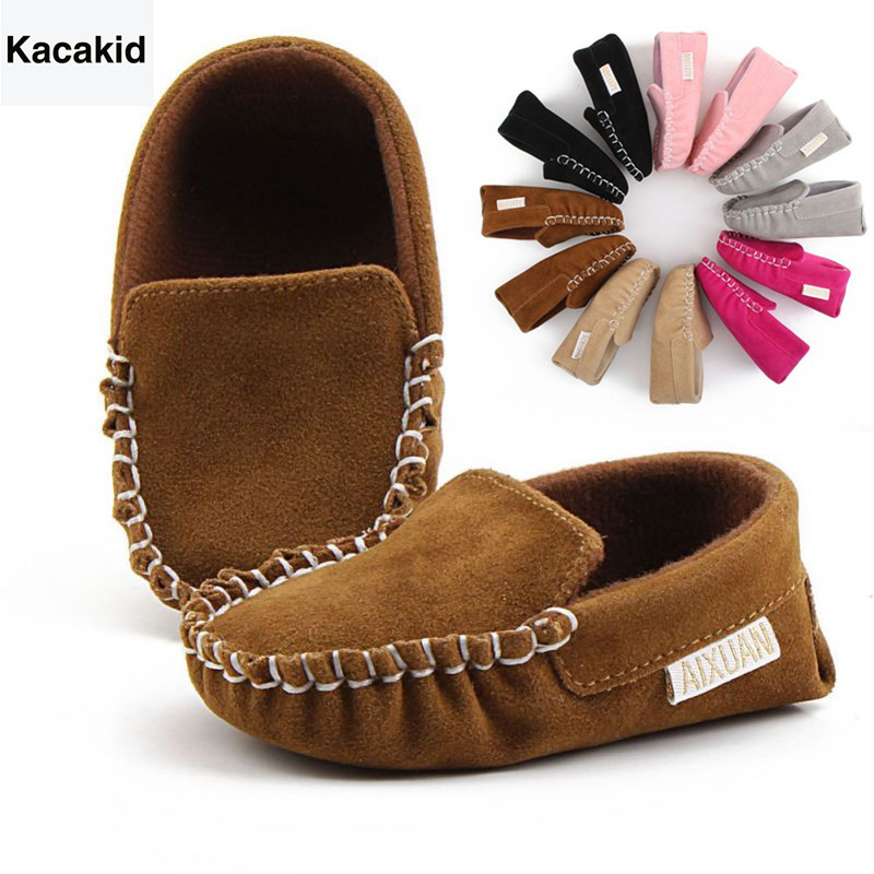 Baby Shoes Winter Lovely Infant Moccasins Princess First Walk Soft Soled Crib Shoes Newborn Toddler Casual Leather Shoes