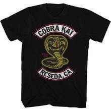 KARATE KID COBR KAI PATCH BLACK Men's Adult Short Sleeve T-Shirt