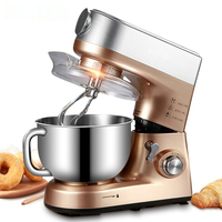 1PC Multifunctional Mixer 5L Stainless Steel Electric Food Mixers Dough Kneading Machine Egg Stirring Machine 220V/1000W