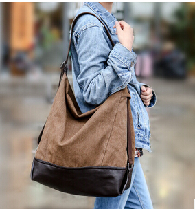 2016 Spring Models Influx Of Canvas Bag Multi-Purpose Bucket Portable Shoulder Handbags