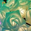 Coronas De Novia Rosa 20 Led Solar LED Luces de la Secuencia 4.8 M Al Aire Libre Luces Del Jardín Decoración Del Partido Del Festival del Día de San Valentín Rosa