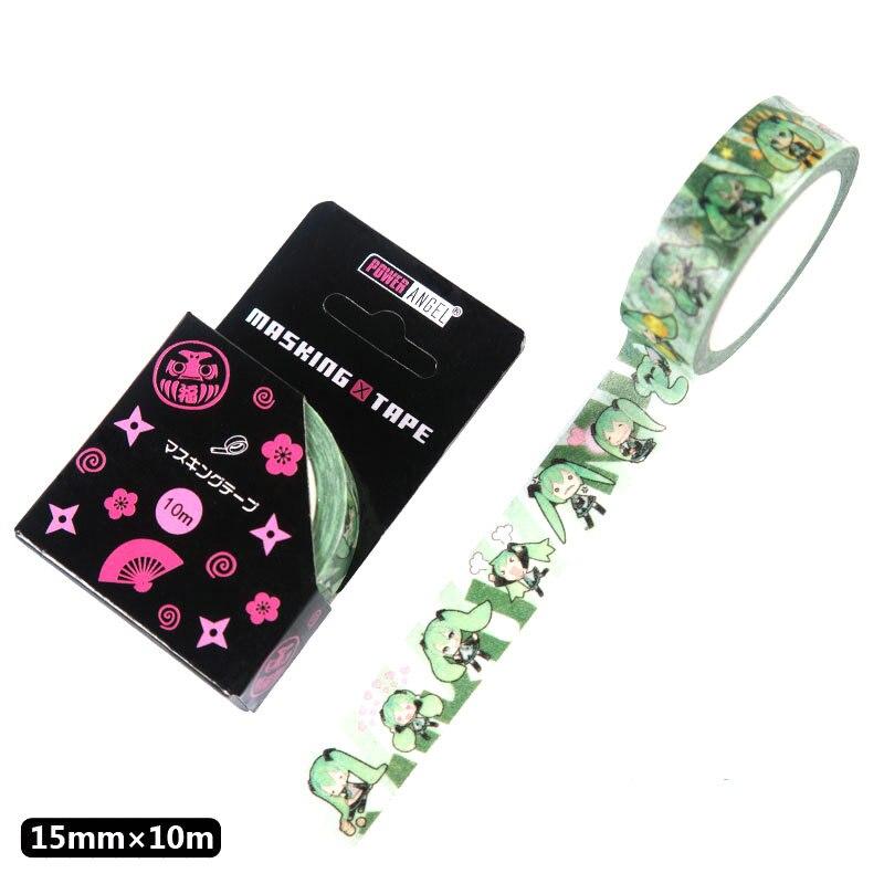 Japanese Anime Hatsune Miku Washi Tape Adhesive Tape DIY Scrapbooking Sticker Label Masking Tape