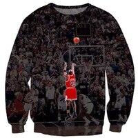 Newest Fashion Mens Womens Jordan Classic Funny 3D Print Sweatshirt Hoodies S M L XL XXL