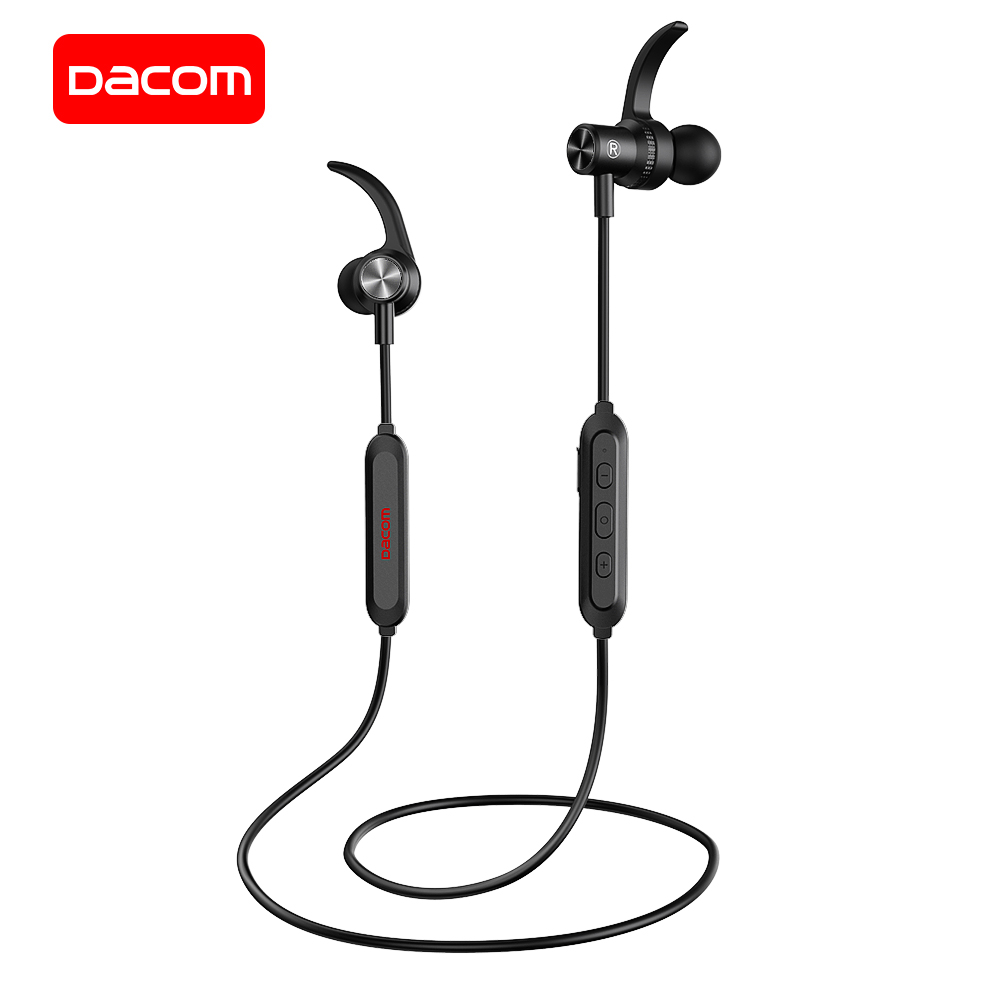 1ae18ed0284 DACOM Bluetooth 5.0 Sports Headphones Wireless Earphones Stereo Bluetooth  Headset with Mic Magnetic Earpiece for iPhone