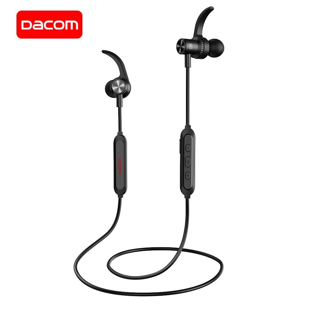 DACOM Bluetooth 5.0 casque de sport Sans Fil Écouteurs Stéréo casque Bluetooth avec Micro Magnétique Écouteur pour iPhone Samsung