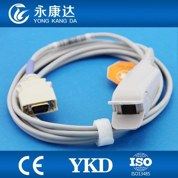 YKD réutilisable Direct 14pin adulte doigt Clip Spo2 capteurs sondes pour moniteur Patient CE & ISO13485 livraison gratuite