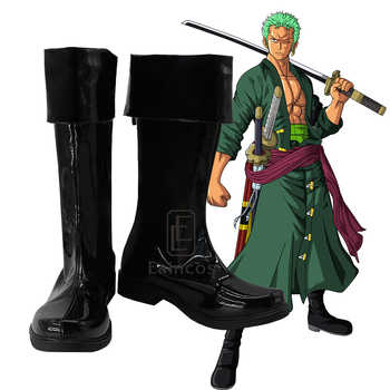 Anime One Piece Two Years Later Roronoa Zoro Cosplay Halloween Party Shoes Black Boots Customized Size - DISCOUNT ITEM  10% OFF All Category