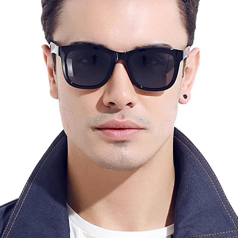 DIDI 2018 Moldura Transparente Quadrado Plano Top Óculos Polarizados Condução óculos de Sol Das Mulheres Dos Homens Do Vintage Do Presente Do Natal Oculos H817