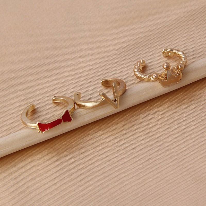 hualuo новая мода лидер продаж щедрый ядер моды кольцо, золото цвет корона кольца набор для женщин для 7 шт./комп. r897