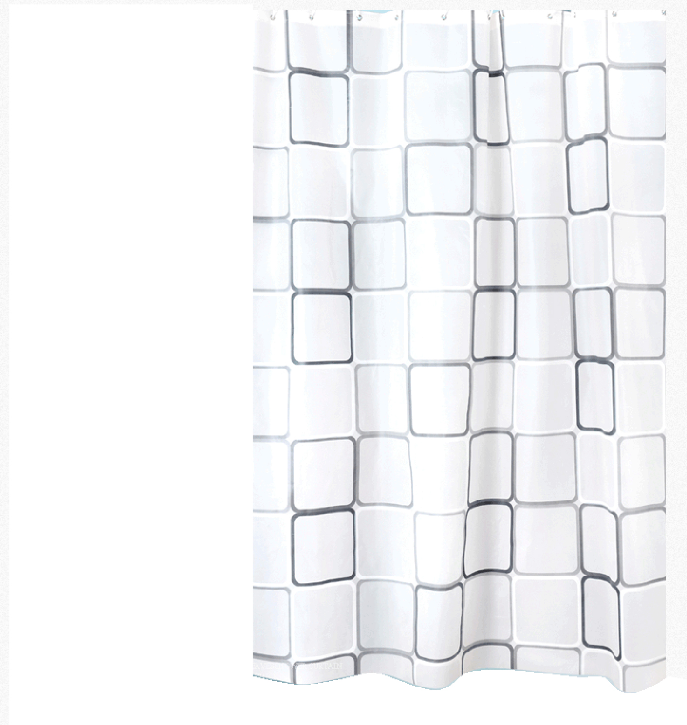 Bathroom plastic curtains - Aliexpress Com Buy Curtains Plastic Shower Curtain With 12 Hooks Black White Grid Print Waterproof Blinds For Bathroom 2 Sizes Bathroom Decor From