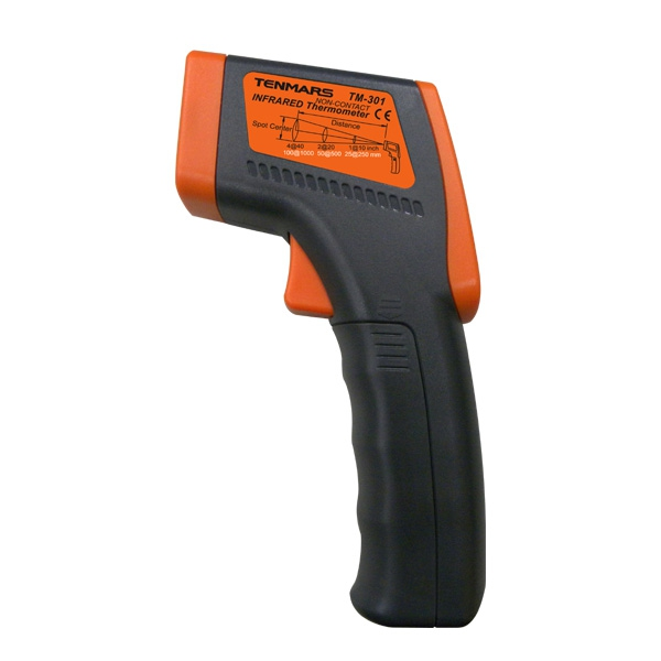Tenmars TM-301 Gun Type LCD Infrared Thermometer for HVAC Inspection Electrical Inspection Motor Inspection цена