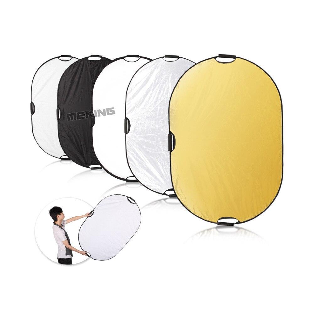 Meking photographie Photo réflecteur 150*200 cm/59 * 78.8in 5in1 lumière carrée Mulit pliable Portable contrôle d'éclairage