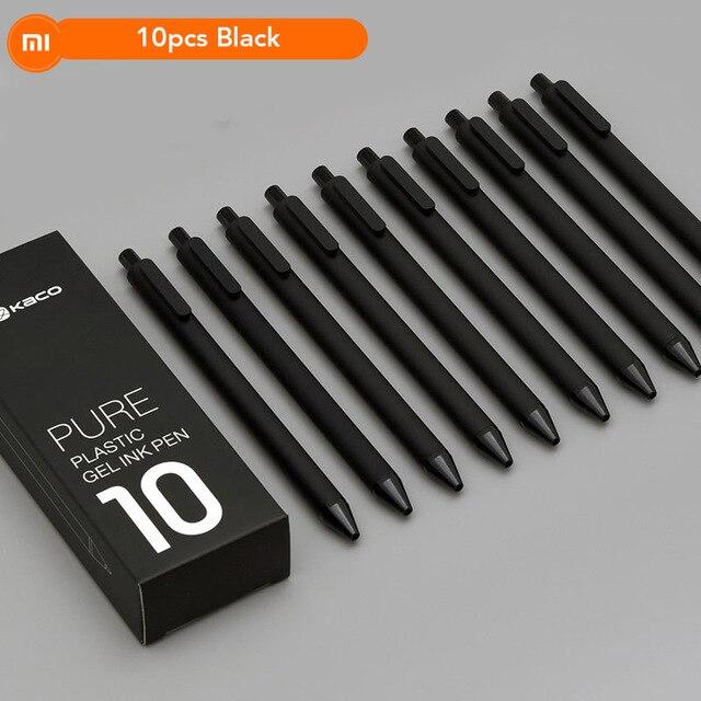 10 Pc Original Xiao Mi Mi Jia Kaco Stift 0,5mm Mi Kaco Kugelschreiber Core Durable Unterzeichnung Stift Refill Schwarz Tinte PüNktliches Timing