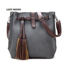 Women Crossbody Bags Luxury Designer Bucket Sac a main Lady BaoBao Tassel PU Leather Novelty Messenger Handbags