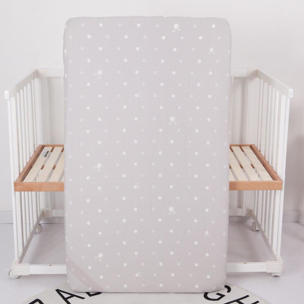 Детский бампер, защита для кровати, Младенческая кроватка, бампер для кровати, 4 шт., комплекты постельного белья для детей, включая простыню, подушка, одеяло, бампер - Цвет: gray fitted sheet