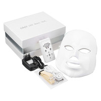 7 Colors Light Photon PDT Facial Mask Electric LED Face Masks Skin Care Rejuvenation Anti Acne Wrinkle Removal Therapy Mask Set