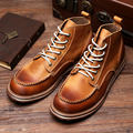 Hight Quailty Mens Genuine Leather Lace Up Round Toe Work Safety Martin Ridding Boots Super Warm Plush Winter Snow Boots