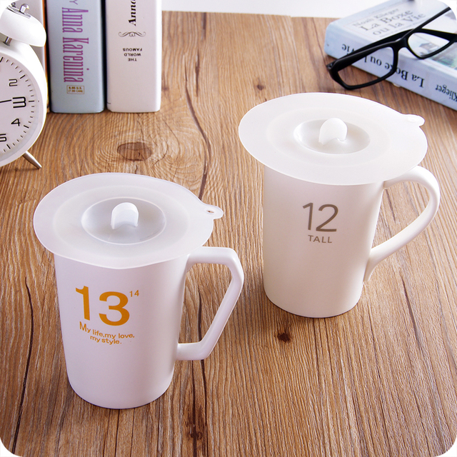 Silicone Cup Lid Mug Lids Drink Coffee Tea Can Jar Cover Food Covers