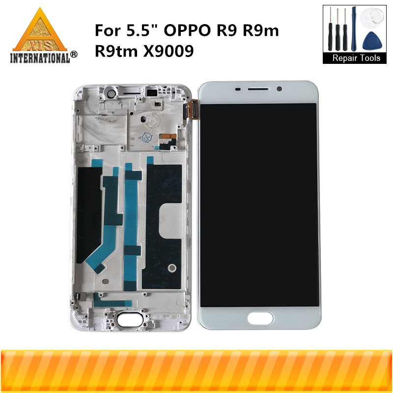 Axisinternational For 5.5 OPPO R9 R9m R9tm X9009 LCD Display Screen Frame+Touch Panel Screen Digitizer With Frame AssemblyAxisinternational For 5.5 OPPO R9 R9m R9tm X9009 LCD Display Screen Frame+Touch Panel Screen Digitizer With Frame Assembly