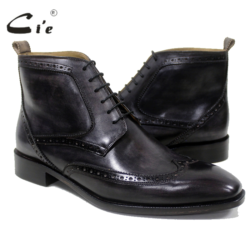 cie square toe wingtips100%genuine calf leather boot patina deep brown green handmade bespoke leather lacing men ankle boot A101 double barrel toddler boys s andy cowboy boot square toe