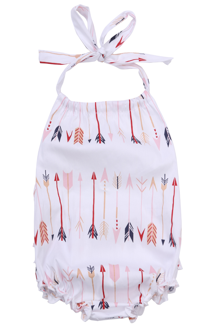 2017 Fashion Cute Baby Infant Girls Clothes Sleeveless Floral Romper Jumpsuit Sets Outfits White 1PCS