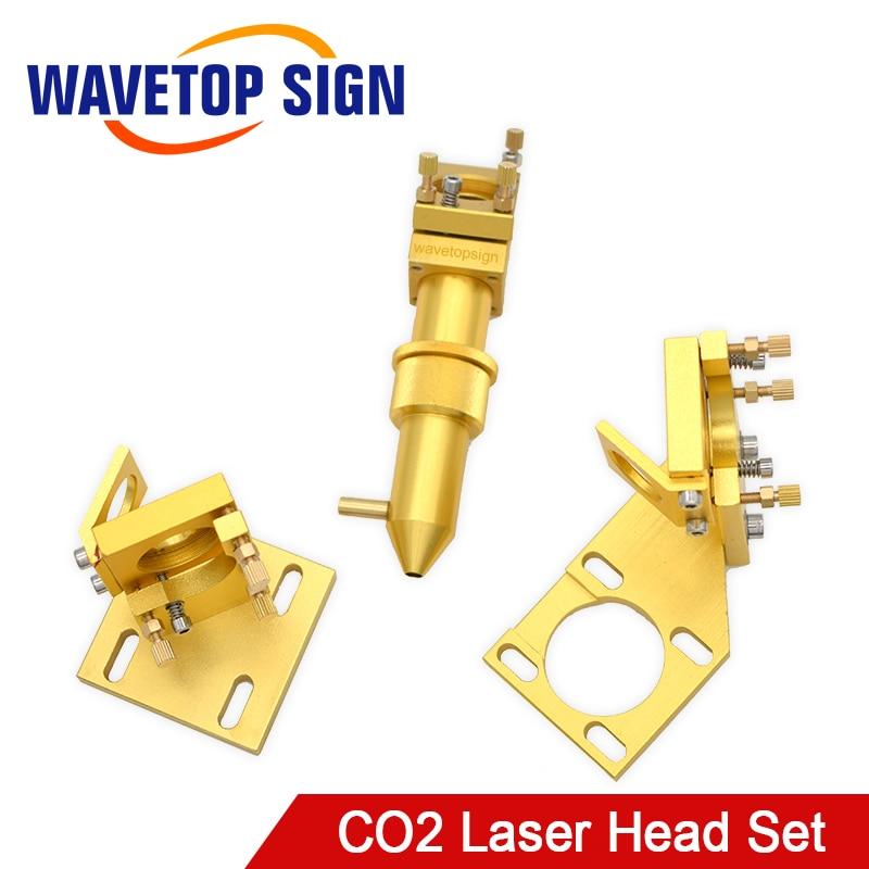 WaveTopSign CO2 Laser Head Set For 2030 4060 K40 Laser Engraving Cutting Machine