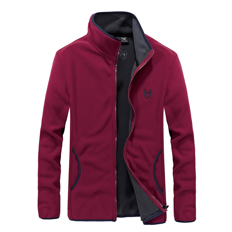 140kg Can Wear Polar Fleece Sport Coat Men Running Jackets 2018 New Thermal Outdoor Clothing Full Zip 7XL 8XL Jogger Windbreaker