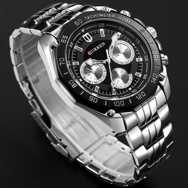 Fashion Curren Luxury Brand Man quartz full stainless steel Watch Casual Military Sport Men Dress Wristwatch Gentleman 2018 New