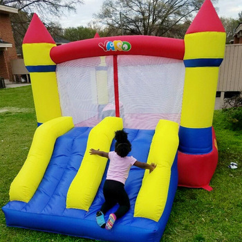 Inflatable Castle Bounce House Inflatable Trampoline with Double Slides with Blower for Party Outdoor Indoor Children Funny Game outdoor games pvc inflatable bouncy castles for children with blower