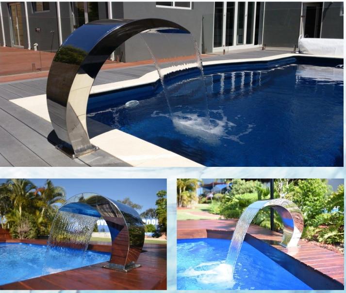 Mirror Polish Stainless Steel Mirror Polish Cobra Curtain for Swimming Pool Waterfall Fountain WXH(60X70)CM цена