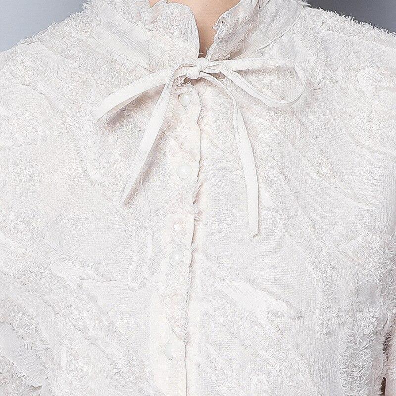 Blouses Picture Manches Printemps Épissage Montant Bureau Mode 2018 noir Casual Gaze Élégant Longues Femme Gros En As Femmes Chemises Col Lâche 1PdHq