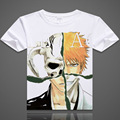 bleach t-shirt digital printed hot anime bleach t shirt suzumebachi Ichigo Kurosaki bleach short-sleeve Bleach T-shirt men