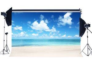 Image 1 - Mare Spiaggia di Sabbia Sfondo Nube Bianco Cielo Blu Natura Summer Holiday Viaggio Oceano Vela Fotografia di Sfondo
