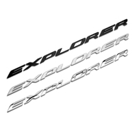 Car Head Accessories for Kuga Explorer Vehicle Engine Cover Emblem Sticker Metal 3D Badge Silver Black Decal Durable Fashion