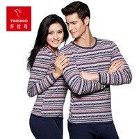 European Pattern Plus Velvet Thick Package Printing Warm Men Thermal Underwear Secouple Model Underwear Set Winter