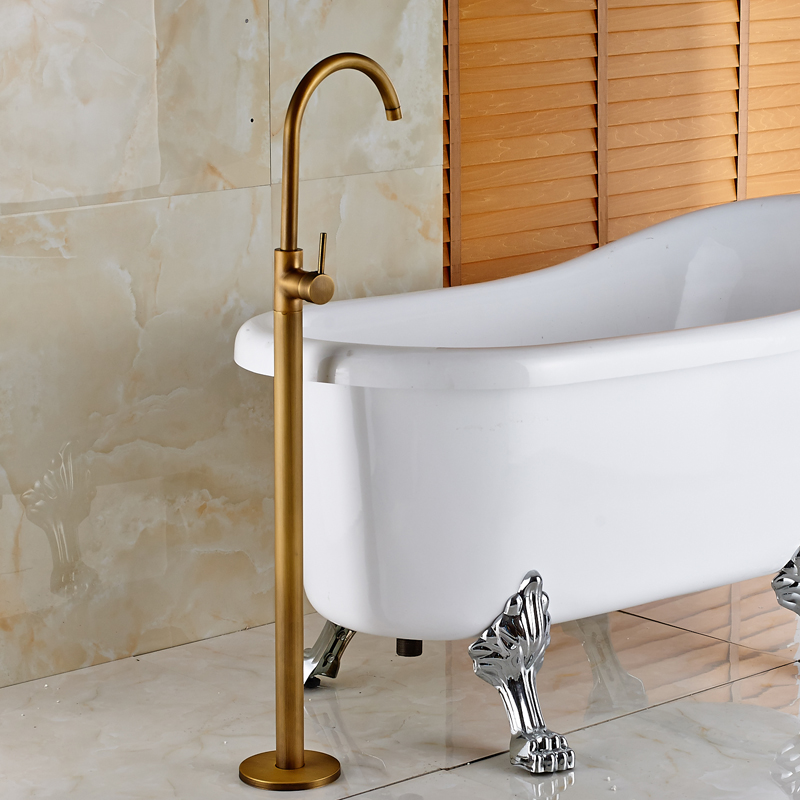 Wholesale And Retail Chrome Brass Bath Tub Faucet Floor Mounted Tub ...