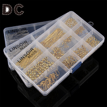 Jewelry Findings Accessories Kit Box Settings Beaded Pins Clamping Buckle Set DIY Tool Fashion Charms Jewelry Making F2972