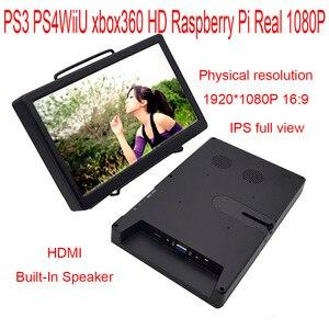 Mini Monitor con altavoz incorporado, de 10,1 pulgadas, 1920-1080/2560-1600, HDMI, VGA, compatible con Raspberry Pi, PS3 y PS4