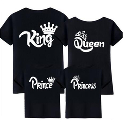 Família Roupas Combinando O Papai Mamãe e Me camiseta Olhar Pai Mãe Filho Filha Mãe Roupas Outfits Bebê Menina Coroa vestidos